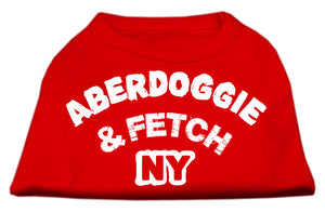 Aberdoggie NY Screenprint Shirts Red XXXL (20)