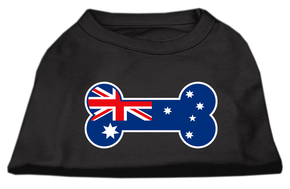 Bone Shaped Australian Flag Screen Print Shirts Black S (10)