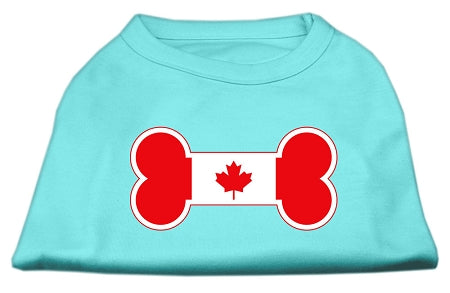 Bone Shaped Canadian Flag Screen Print Shirts Aqua XXL (18)