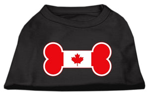 Bone Shaped Canadian Flag Screen Print Shirts Black XXXL(20)