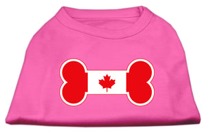 Bone Shaped Canadian Flag Screen Print Shirts Bright Pink S (10)