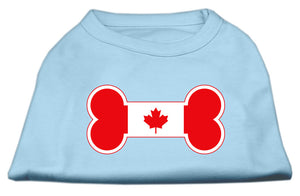 Bone Shaped Canadian Flag Screen Print Shirts Baby Blue XXL (18)