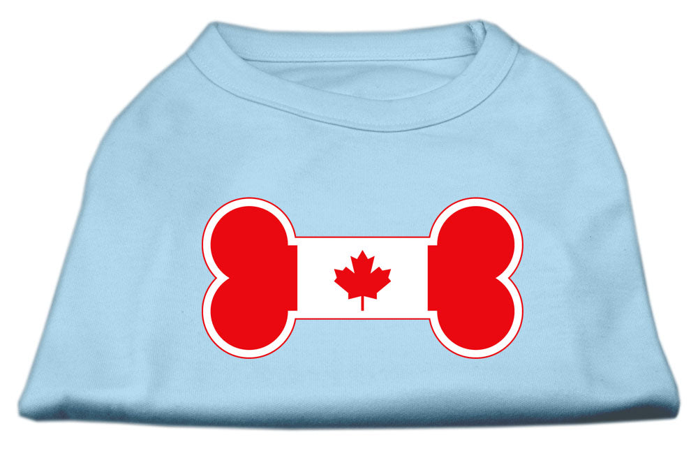 Bone Shaped Canadian Flag Screen Print Shirts Baby Blue M (12)