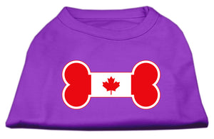 Bone Shaped Canadian Flag Screen Print Shirts Purple S (10)
