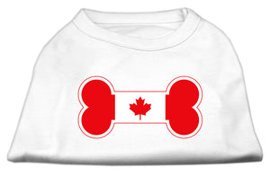 Bone Shaped Canadian Flag Screen Print Shirts White S (10)