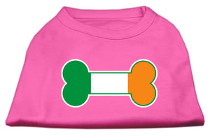 Bone Flag Ireland Screen Print Shirt Bright Pink Lg (14)