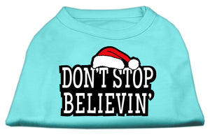 Don't Stop Believin' Screenprint Shirts Aqua S (10)