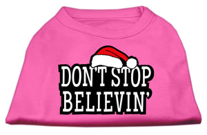 Don't Stop Believin' Screenprint Shirts Bright Pink XL (16)
