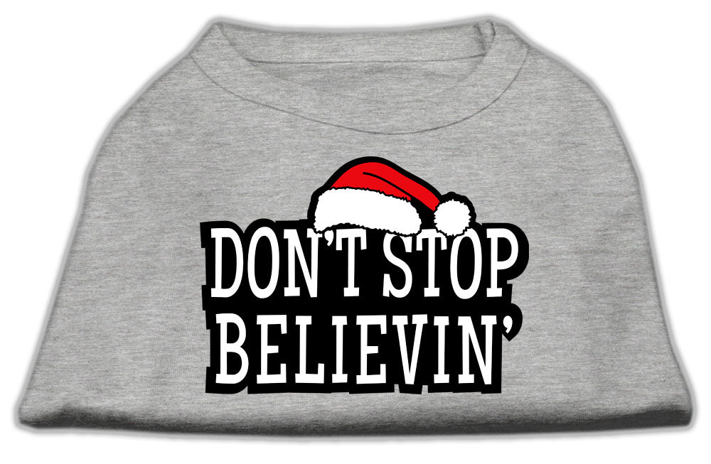 Don't Stop Believin' Screenprint Shirts Grey S (10)