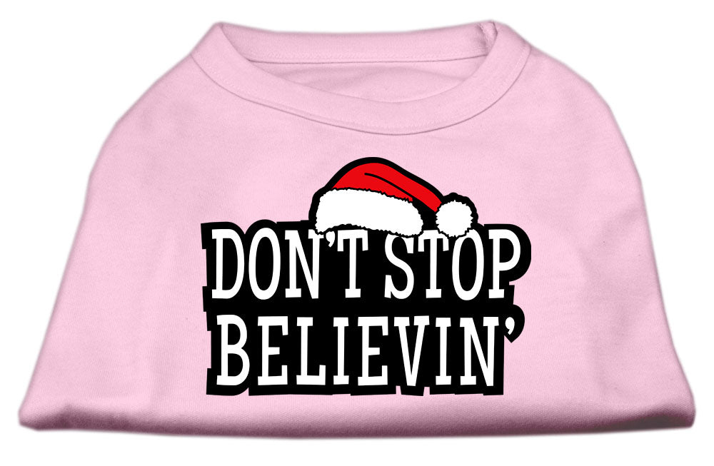 Don't Stop Believin' Screenprint Shirts Light Pink XL (16)