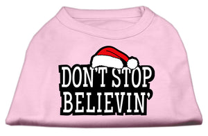 Don't Stop Believin' Screenprint Shirts Light Pink XS (8)