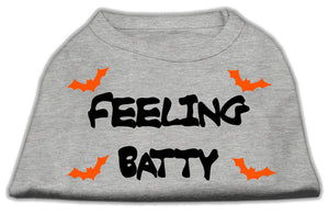 Feeling Batty Screen Print Shirts Grey Sm (10)