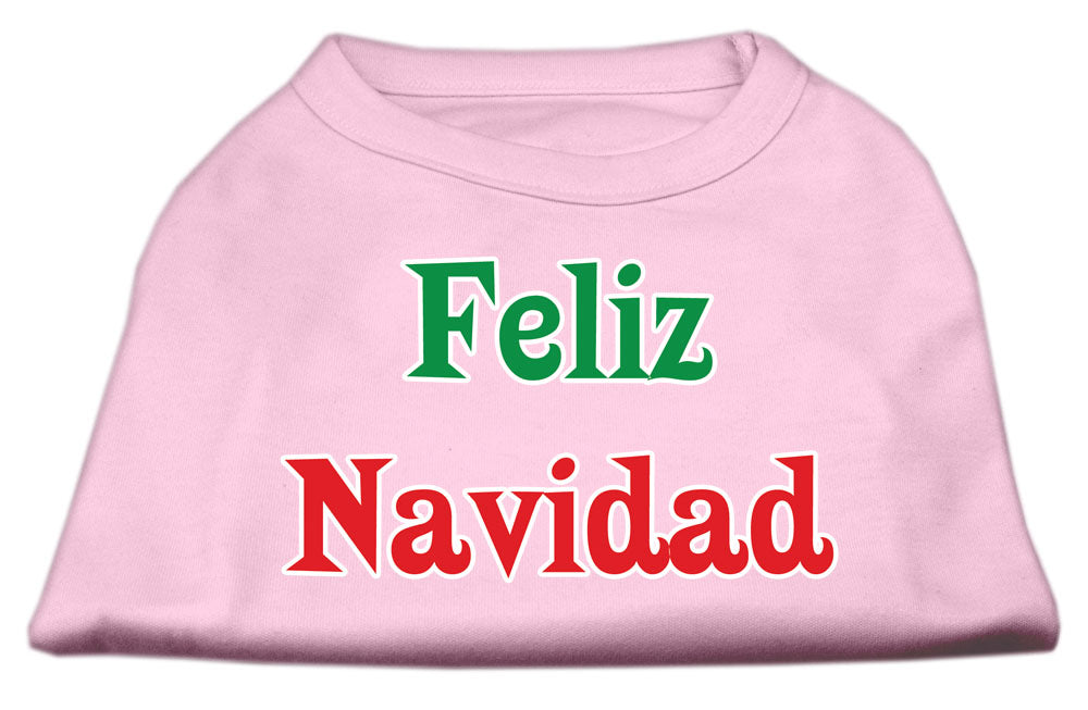 Feliz Navidad Screen Print Shirts Light Pink S (10)