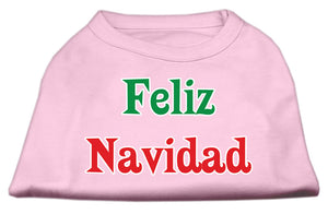 Feliz Navidad Screen Print Shirts Light Pink XS (8)