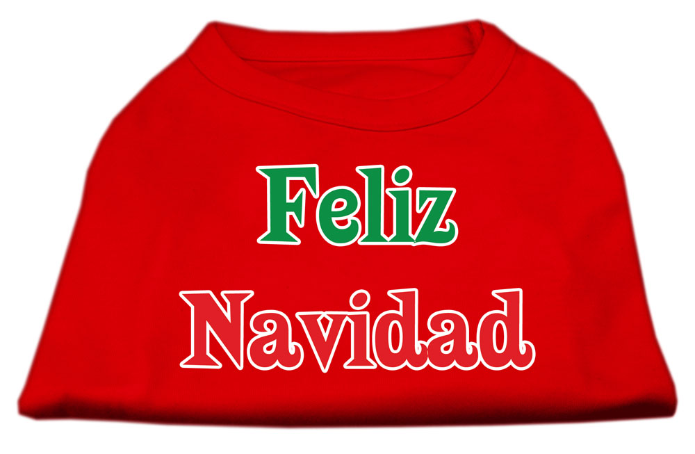 Feliz Navidad Screen Print Shirts Red XXL (18)