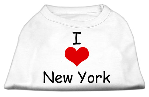 I Love New York Screen Print Shirts White Lg (14)