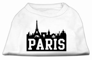 Paris Skyline Screen Print Shirt White Med (12)