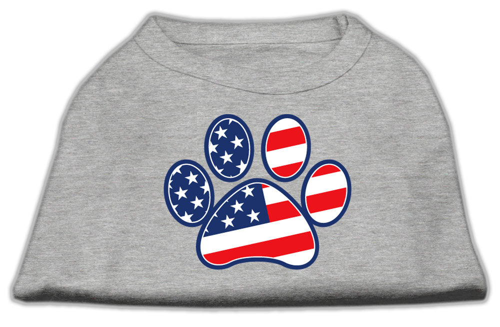 Patriotic Paw Screen Print Shirts Grey L (14)