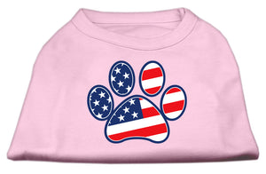 Patriotic Paw Screen Print Shirts Light Pink M (12)