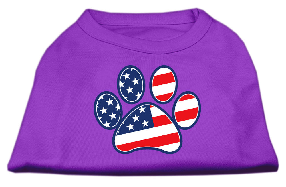 Patriotic Paw Screen Print Shirts Purple XXL (18)