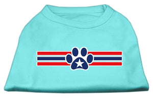 Patriotic Star Paw Screen Print Shirts Aqua L (14)