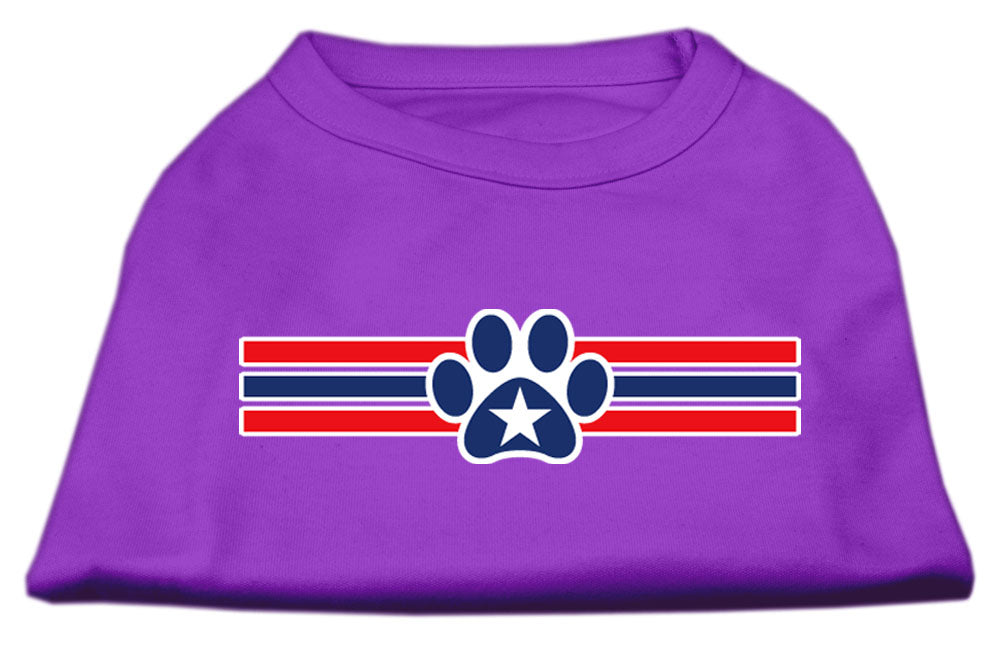 Patriotic Star Paw Screen Print Shirts Purple XL (16)