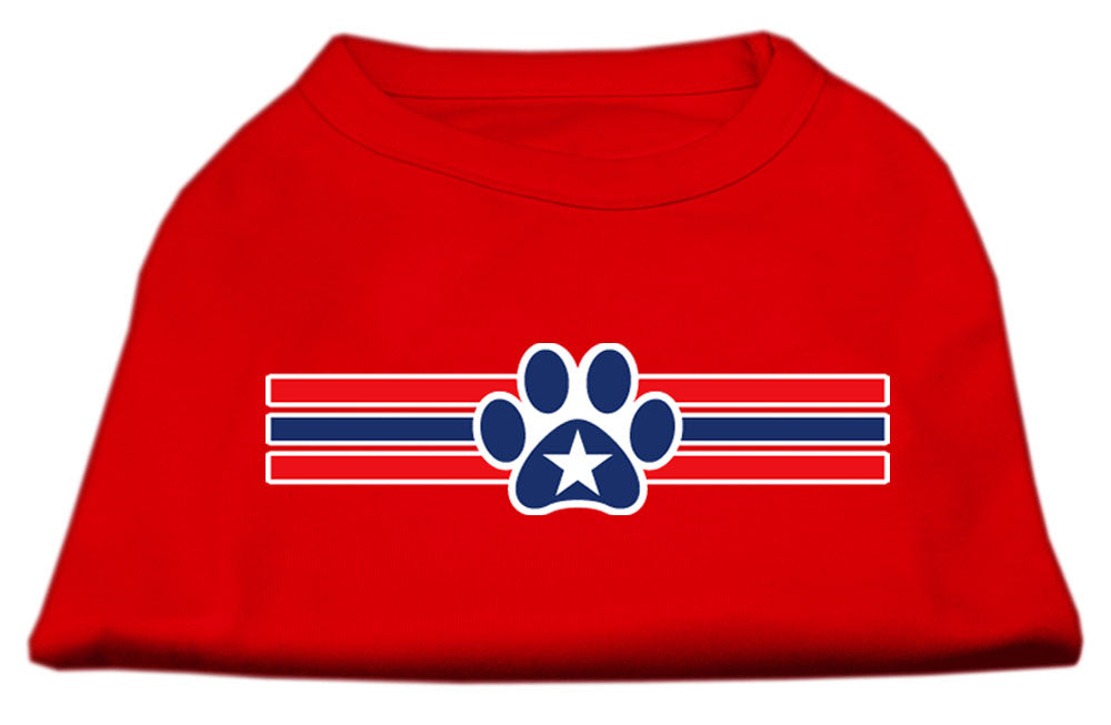 Patriotic Star Paw Screen Print Shirts Red M (12)