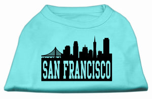 San Francisco Skyline Screen Print Shirt Aqua Sm (10)