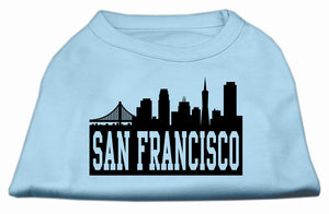 San Francisco Skyline Screen Print Shirt Baby Blue XXXL (20)