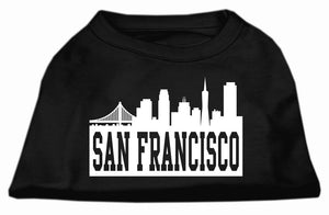 San Francisco Skyline Screen Print Shirt Black XS (8)