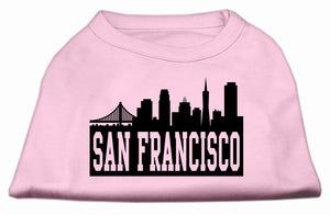 San Francisco Skyline Screen Print Shirt Light Pink XXXL (20)