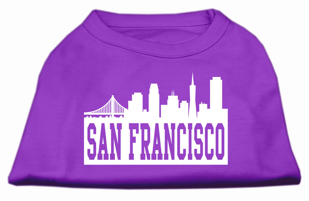 San Francisco Skyline Screen Print Shirt Purple XXXL (20)