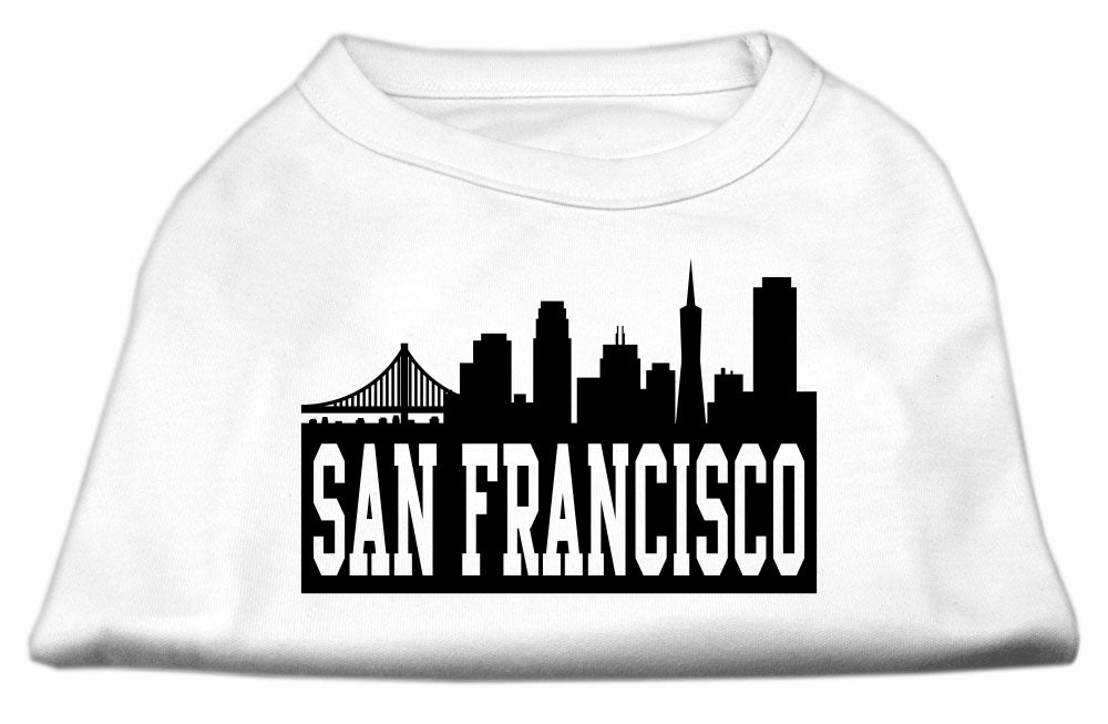 San Francisco Skyline Screen Print Shirt White XS (8)