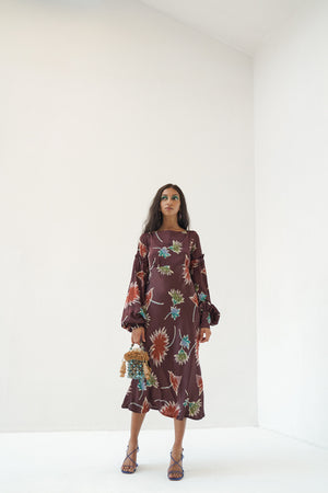 Load image into Gallery viewer, Mispa dress - Brown