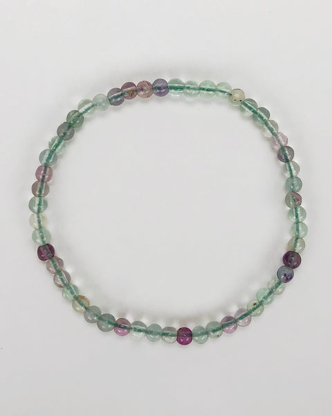 Fluorite Mini 4mm Gemstone Bracelet