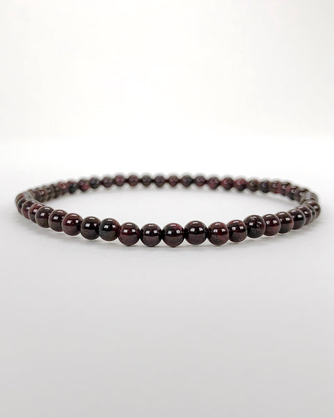 Children's Size Garnet 4mm Gemstone Bracelet