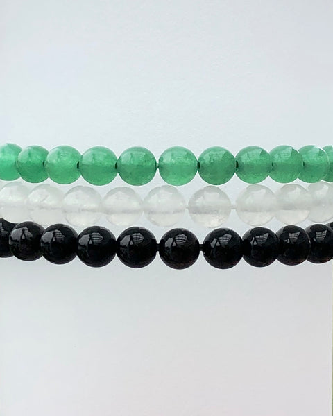 6mm Gemstone Bracelet Set for Abundance