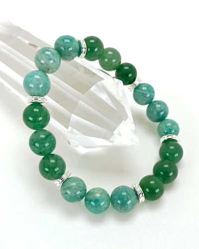 Amazonite & Aventurine 10mm Gemstone Bracelet