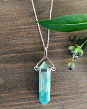 Amazonite Crystal Point Pendant