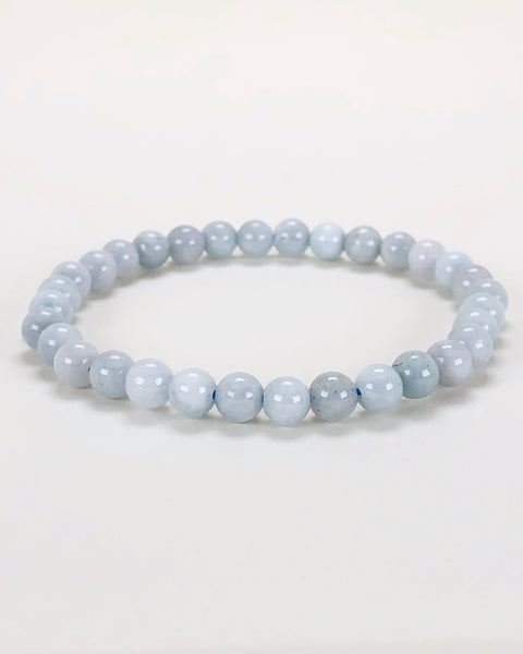 Aquamarine 6mm Gemstone Bracelet