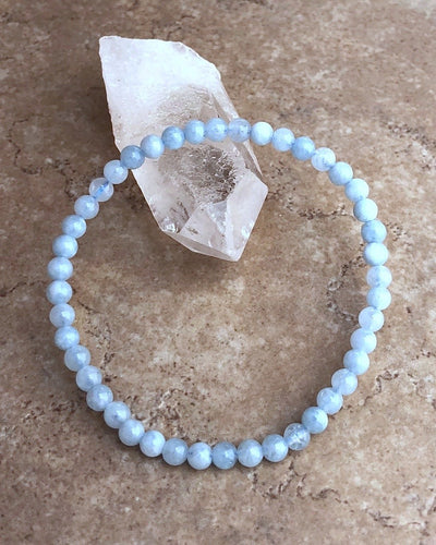 Aquamarine Mini Gemstone Bracelet