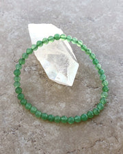 Aventurine Mini 4mm Gemstone Bracelet