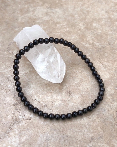 Black Agate Mini Gemstone Bracelet