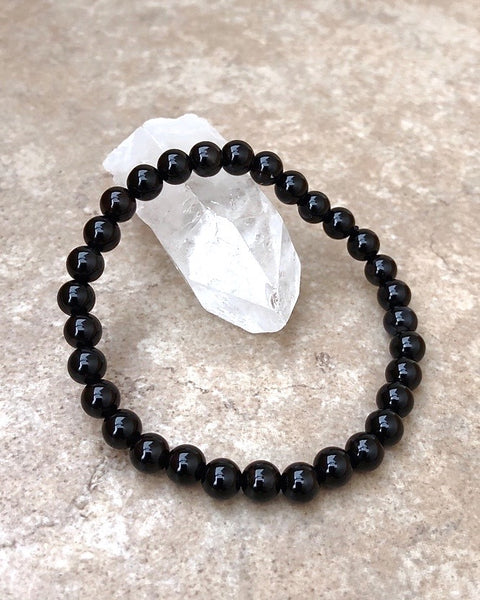 Black Agate Gemstone Bracelet