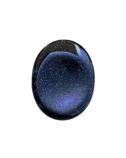 Blue Goldstone Worry Stone