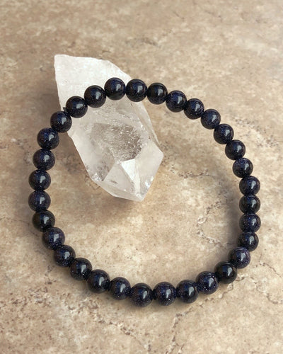 Blue Goldstone Gemstone Bracelet