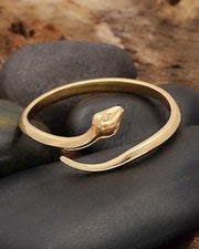 Bronze Adjustable Simple Snake Ring