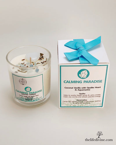 Calming Paradise Crystal Candle