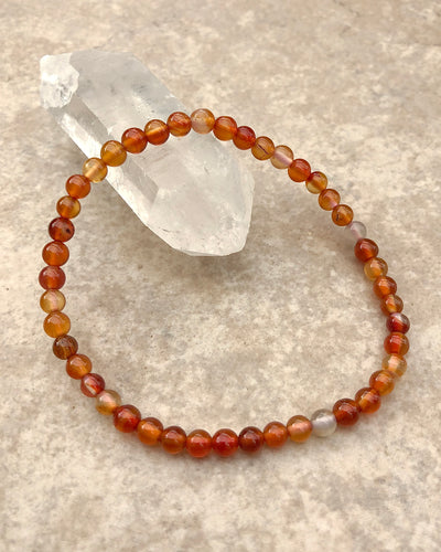 Children's Size Carnelian 4mm Gemstone Bracelet