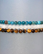 4mm Mini Gemstone Bracelet Set for Courage and Truth